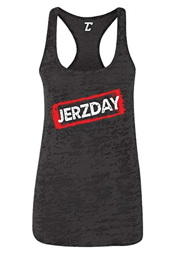 Jerzday - Beach Shore TV Show Parody Women's Racerback Tank Top (Black, Medium) ()