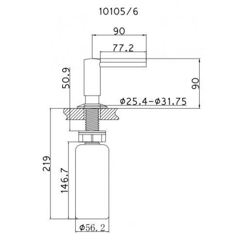 Dispensador de jabón Cromo Mizzo Govaro - 5 años de garantía de dispensador de jabón/dispensador de jabón accesorios fregadero cocina - de loción/Jabón ...