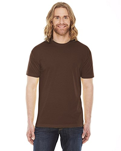American Apparel - Poly-Cotton Short Sleeve Crew Neck T-Shirt (BB401), XX-Large, Brown