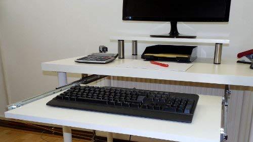 EisenRon Tastaturauszug Buche Dekor 60x40 cm Nutzh/öhe XL 77mm Schublade Auszug Tastatur