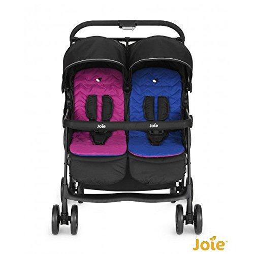 joie Geschwister-Kinderwagen AireTwin - Pink Blue schwarz