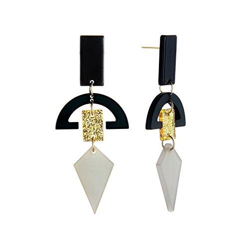 Paymenow Clearance Stud Earrings Set Hook Dangle Fashion Geometric Shaped Earring Jewelry For Women Girls (G)