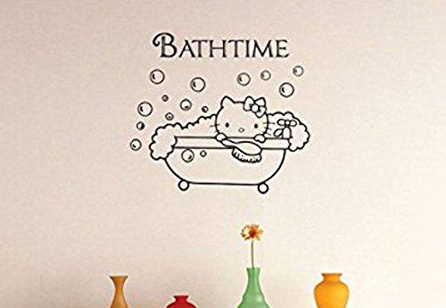 Design With Vinyl 2 Zzz 191 Decor Item Hello Kitty BathTi...