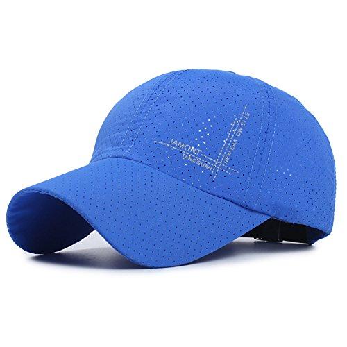 Galleon - Zelta Breathable Baseball Cap Sports Cap Snap Buckle Elastic Band  Quick Drying Nylon (Blue) 625c0506abac