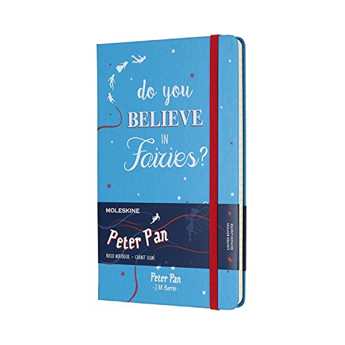 Moleskine Limited Edition Peter Pan Notebook Large Ruled Fairies Mala Green (8055002855495)