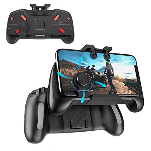 Newseego Mobile Game Controllers, Cool Technology Style One-Piece Controller | Shooter Controller Joysticks Gamepad for Knives Out/Rules of Survival - Portable Gamepad with Triggers ()
