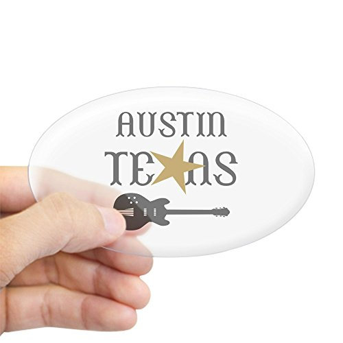 CafePress - AUSTIN TEXAS MUSIC Sticker - Oval Bumper Sticker, Euro Oval Car - Sticker Austin