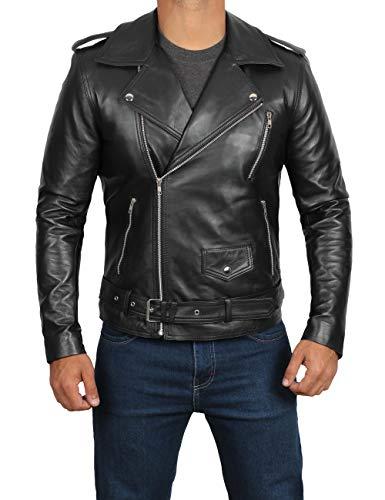 fjackets Black Belted Rider Jacket Mens Leather Jacket | [1100013], Belted Rider M]()