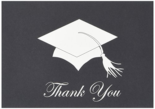 "Great Papers! Grad Hat Thank You Note Cards with Envelopes, 4.875""x3.375"", 24 Count (100700)"