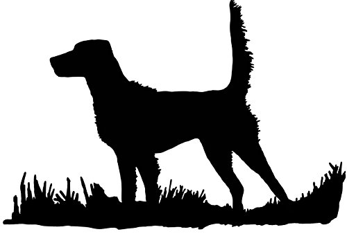 English Setter Silhouette (high tail), Bird Dog Upland Hunting Decal, Medium (Black (matte))