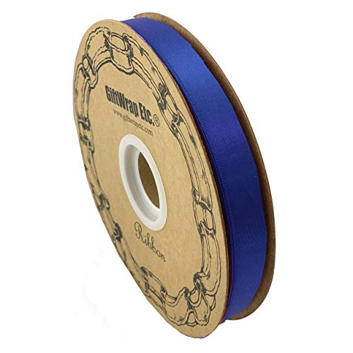 Royal Blue Satin Fabric Ribbon - 5/8