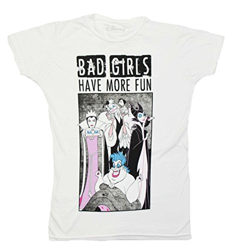 Villian Tee - Disney Villians Bad Girls Have More Fun Maleficent Ursula Juniors T-shirt (Large, Bad Girls)