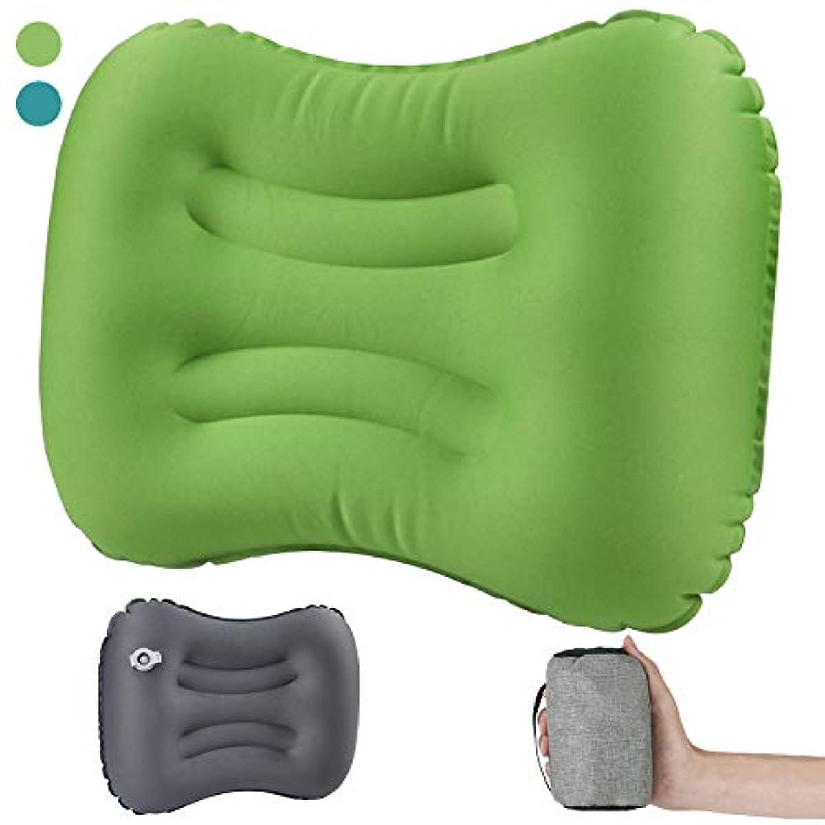 [해외] JUNELADY 캠프침 에어 pillow 에어 베개 공기침 휴대 여행용침 트래블 pillow 여행용 침비행기 출장 수납가