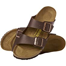 Birkenstock Arizona Dark Brown Natural Oiled Leather Sandals, Unisex (43 M EU - 10-10.5 US Men)