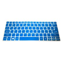 "Translucent Blue Ultra Thin Silicone Keyboard Cover Protector for Acer Aspire V5-122 V5-122P V5-132 V5-132P V3-111P V3-112P V13 V3-331 V3-371 V3-372T E11 E3-111 E3-112 ES1-111M, Aspire R 11(R3-131T), Aspire Switch 11(SW5-171 SW5-173) 11.6"" series US Layout Compatible Models Listed in Product Description"