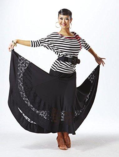Taka Dance Women's Blouse [Stripe & Red Ribbon] [LP-BL19] by TAKA DANCE