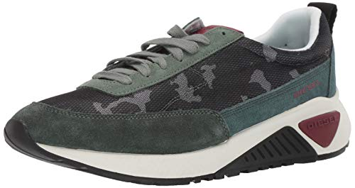 Diesel Men's SKB S-KB Low LACE-Sneakers, Camouflage/Military Green, 7.5 M US