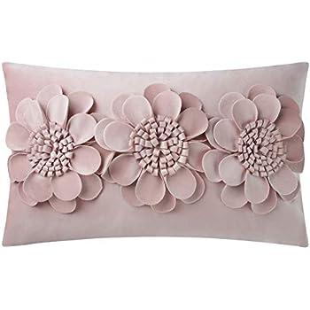 Amazon.com: JW 3d flor sofá fundas de almohada Super tela ...