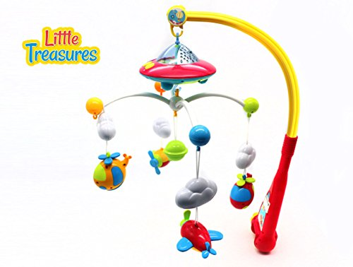 [LITTLE TREASURES Musical Baby Mobile for Crib - a Dreamful Bed Ring Mobile set] (Baby Blocks Musical Mobile)