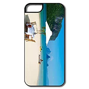 For HTC One M7 Case Cover Covers, Tropical Paradise White/black For HTC One M7 Case Cover