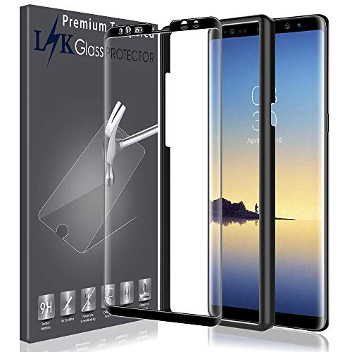 LK Screen Protector for Samsung Galaxy Note 8, [Case Friendly][Alignment Frame Easy Installation][3D Curved][3D Full Coverage] Tempered Glass with Lifetime Replacement Warranty