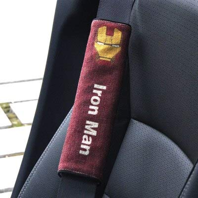 RiceStore 1pcs car Shoulder Protector Avengers car seat Belt Covers (Iron Man)