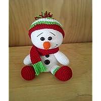 Snowmen Hombre de nieve decoración navideña Amigurumi