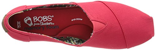 BOBS von Skechers Frauen Highlights Flexpadrille Wedge Rote Leinwand