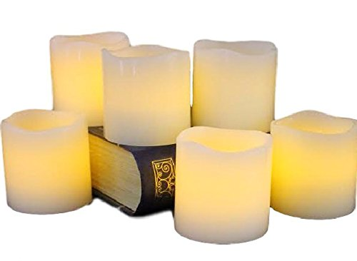 6PCS Birthday Candles Safe Flames With Holders - 1