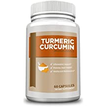 GS Supplements - Turmeric Curcumin for Anti-Inflammatory, Pain Relief, Antioxidant Supplement, 600 mg, 60 Capsules