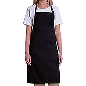 1 new black  waist long apron commercial apron spun poly