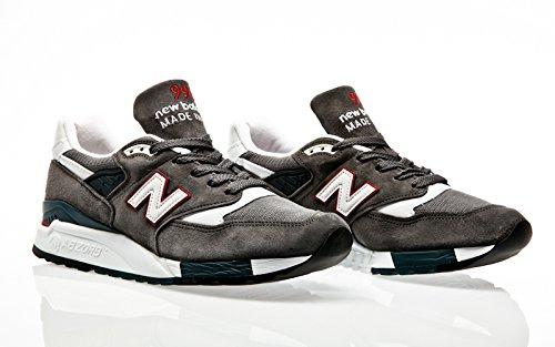 Sneakers NEW BALANCE antracite, nuova collezione autunno inverno 2017/2018 Cra Grey-red