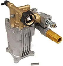 """The ROP Shop 3/4"""" Shaft, Brass Head, Horizontal Pump Replacement for Pressure Washer with 3000 PSI and 2.5 GPM, Includes Keyway"""