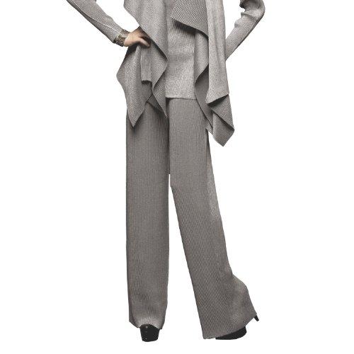 SPECCHIO PLEATS Women's Wide Leg Long Pants come with a Petticoat One size Grey by SPECCHIO PLEATS