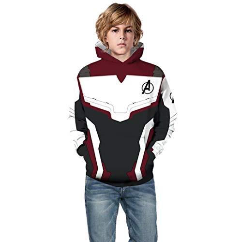 Toddler Kids Superhero Quantum Realm Hoodies Endgame Costume 3D Print Hoodie Tops Sweatshirt ()