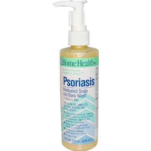 Home Health Psoriasis Medicated Scalp & Body Wash - 2% Salicylic Acid, 8 fl oz - Relieves Itching, Redness & Irritation from Dandruff & Seborrheic Dermatitis - Non-GMO, Paraben-Free, Vegetarian (Home Health Oil Body)