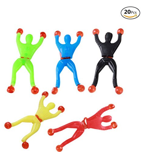20 Pcs Action Figure Sticky Rolling Men Wall Climber Climbing Men Novelty Toys Party -
