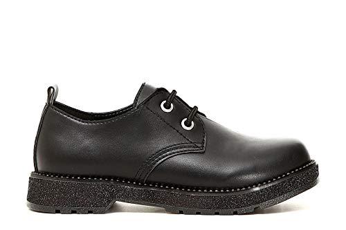 Lisses 37 Chaussures FA960 Noir CAF Noires Derby Femme F106YWw7q