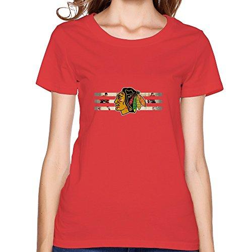 2015 NHL Playoffs Chicago Blackhawks Women's T-shirts Red Size XXL