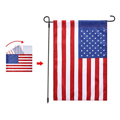 Jetlifee USA US Garden Flag - United States Decorative Garden Flags by US Veterans Owned Biz. Quality Polyester American Flag Outdoor - 18 x 12.5 ()