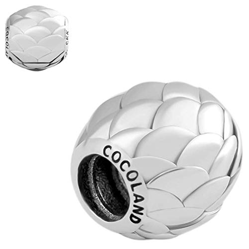 CKK Sterling Silver Dragon Egg Bead Pendant for DIY Jewelry and Pandora Bracelet