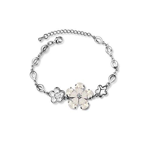 Luxury Charm Flower Bangle Bracelet product image