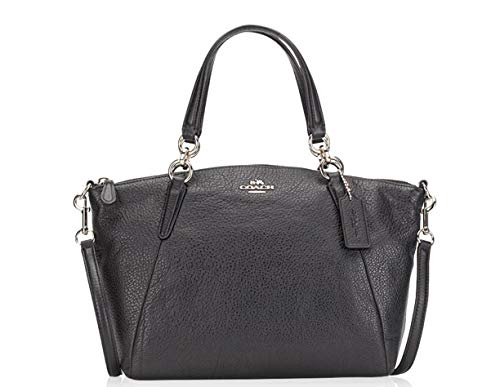 Coach Leather Small Kelsey Cross Body Bag (Black Silver)