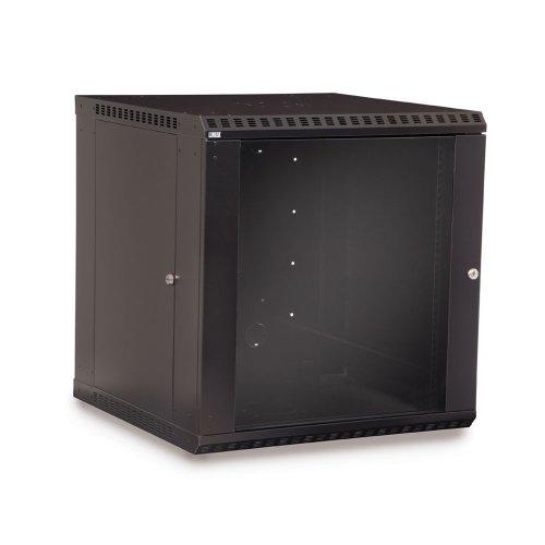 12U LINIER Fixed Wall Mount Cabinet - Glass Door