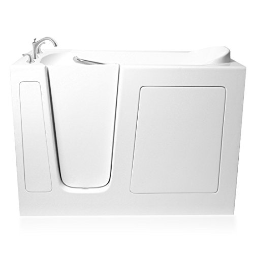 Ariel EZWT-3060- Soaker-L Bath White Walk-In Bathtub Left Side Drain,...