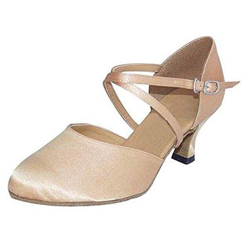 Mujer De Salón Zapatos Apricot Regalo Baile Latino Tango Color 5cm Yff qpdUxwp