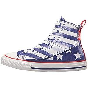 Converse Chuck Taylor All Star Simple Step - HI - White/True Indigo/White - Junior (3 Little Kid M)