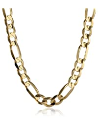 Men's 14k Gold 9.7mm Figaro Chain Necklace