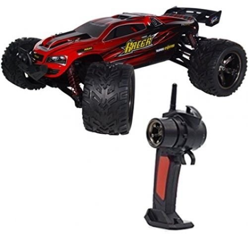 Rc Car,KingPow Electric Radio Remote Control Offroad Rc Truck 1:12 Scale 2.4Ghz 2WD High Speed 40KMH with Rechargeable Battery-Red