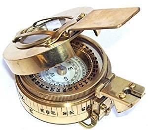 アンティーク航海真鍮MilitaryコンパスヴィンテージCollectible Decor B072BKVV3D